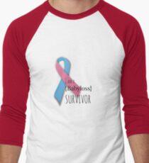 I am a {babyloss} SURVIVOR Men's Baseball ¾ T-Shirt