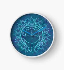 Venus of Willendorf Blue Mandala Clock