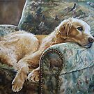 Golden Retriever in Chair by Anne Zoutsos