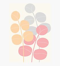 Pastel Leaves Photographic Print
