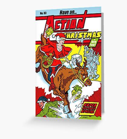 Action Christmas - Wonder Santa! Greeting Card