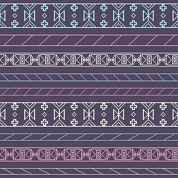 Colorful tribal pixelated pattern by SomStock