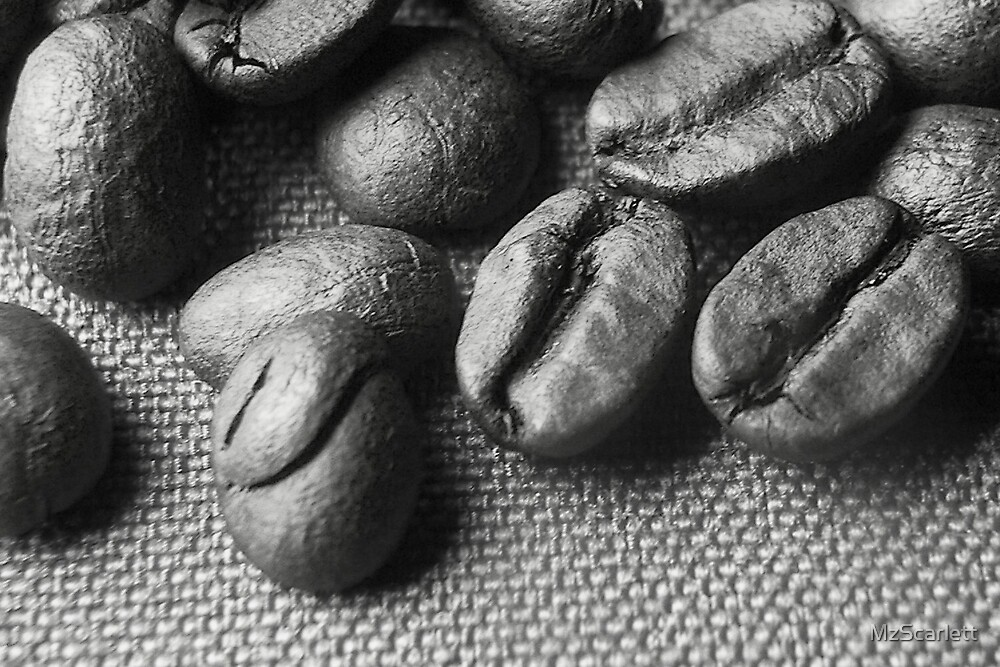 Roasted Coffee Beans by MzScarlett