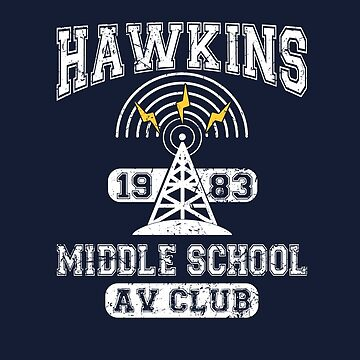 Stranger Things Tee - Hawkins AV Club by KennefRiggles