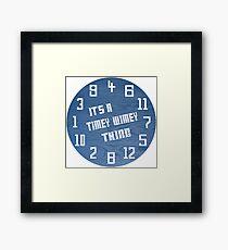 Timey Wimey Clock Framed Print