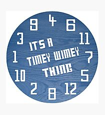 Timey Wimey Clock Photographic Print