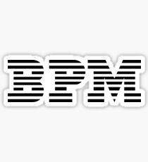 BPM Logo Remake - Cool IBM Beats Parody Sticker T-Shirt Pillow Sticker