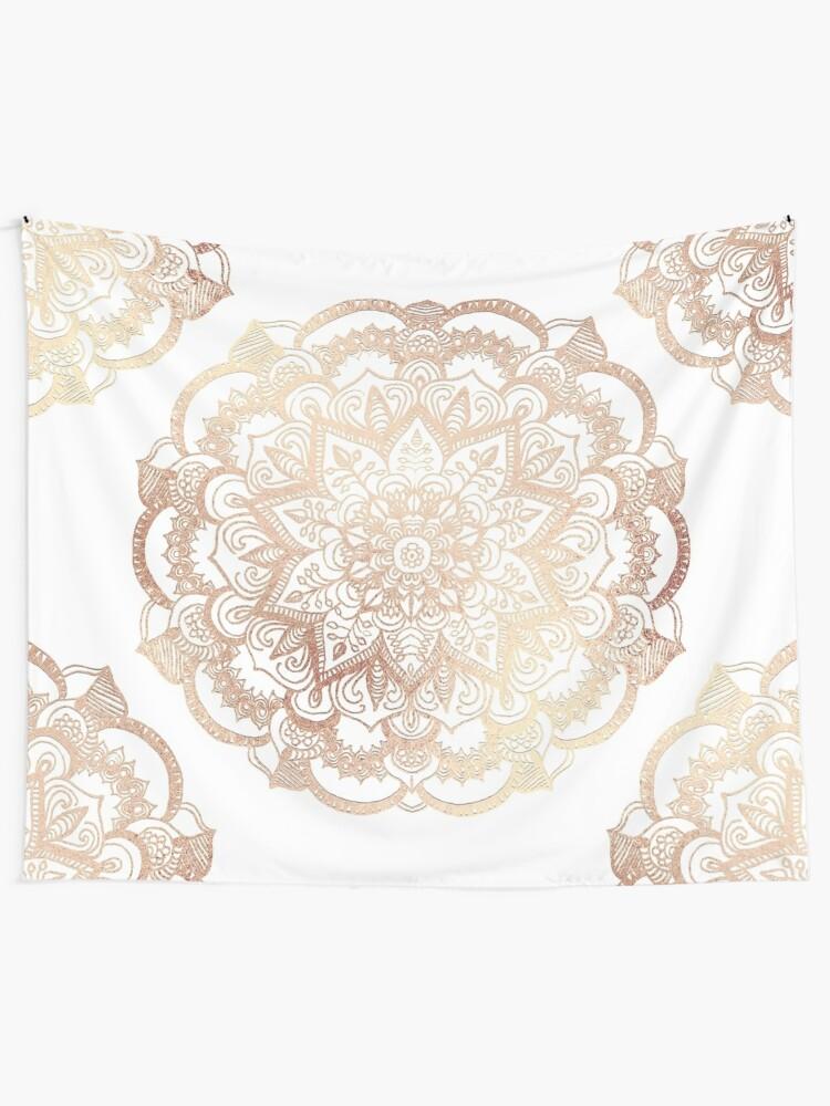 Alternate view of Mandala Gold Shine I Tapestry