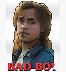 Billy from Stranger Things. Bad Boy Typography. Poster