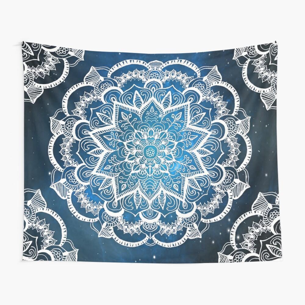 Mandala into Galactic stars Wall Tapestry