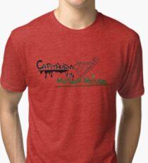 Capitalism vs mother nature graffiti Tri-blend T-Shirt