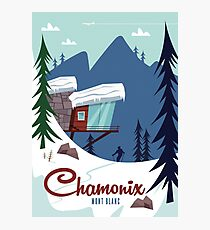 Chamonix Mont Blanc poster Photographic Print