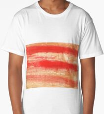 Burnt sienna abstract watercolor background Long T-Shirt