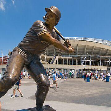 George Brett statue, Kauffman Stadium by jrroman77