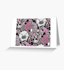Flowers and drops Greeting Card