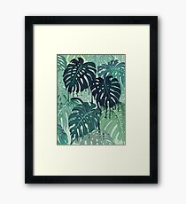 Monstera Melt (in Green) Framed Print