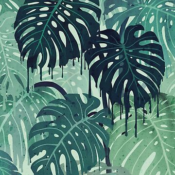 Monstera Melt (in Green) by littleclyde