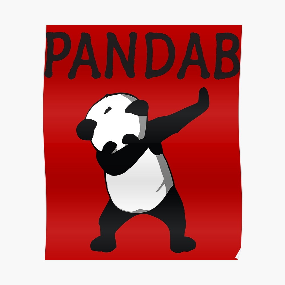 Funny Panda Dab Birthday Card