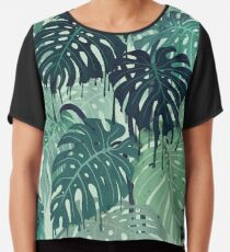 Monstera Melt (in Green) Chiffon Top