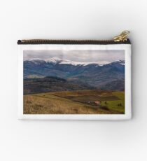rural area in snowy alpine mountains Studio Pouch