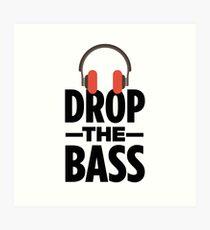 Lámina artística Drop The Bass - Cool Beats Parody Sticker T-Shirt Pillow