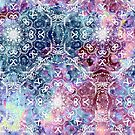 Aquarell Glühen Mandala von SashaFreyArt