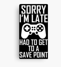 Funny Gamer Gifts Canvas Print