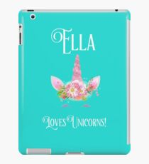 Personalized Unicorn Shirt | Unicorn Shirt | Unicorn Mug | Ella Loves Uncorns | Girls Personalized Shirt | CONTACT ME TO PERSONALIZE  iPad Case/Skin