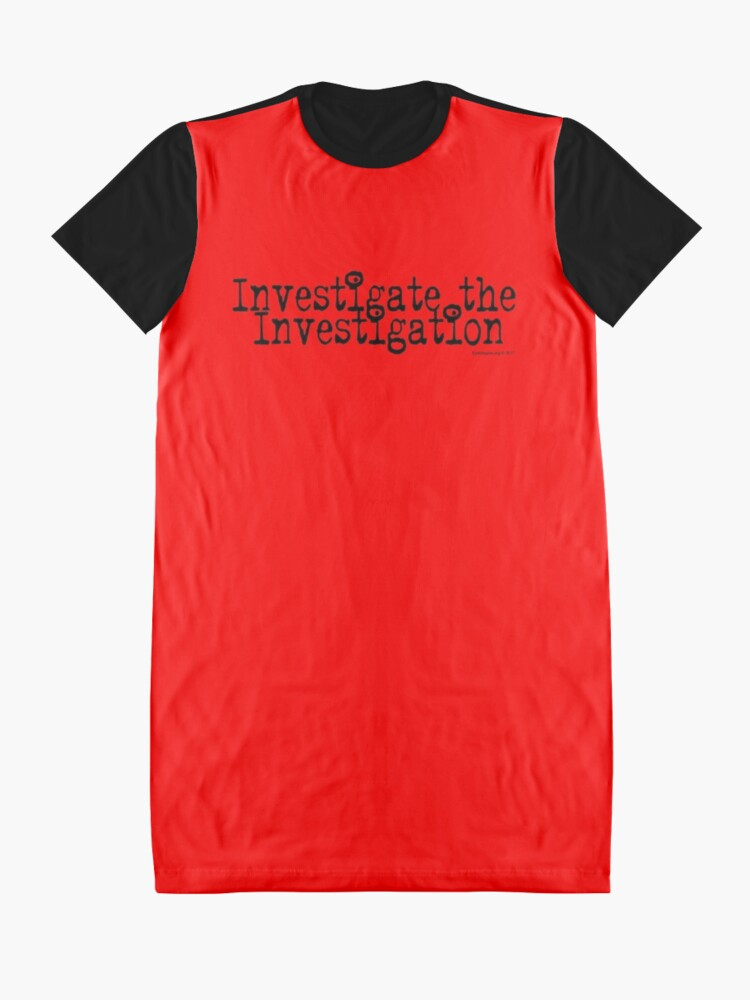Alternate view of Investigate the Investigation Graphic T-Shirt Dress