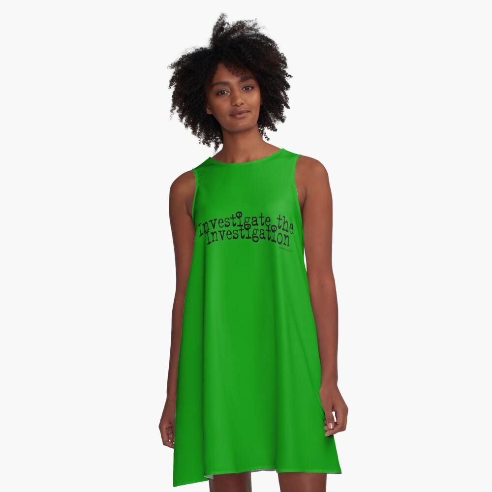 Investigate the Investigation A-Line Dress