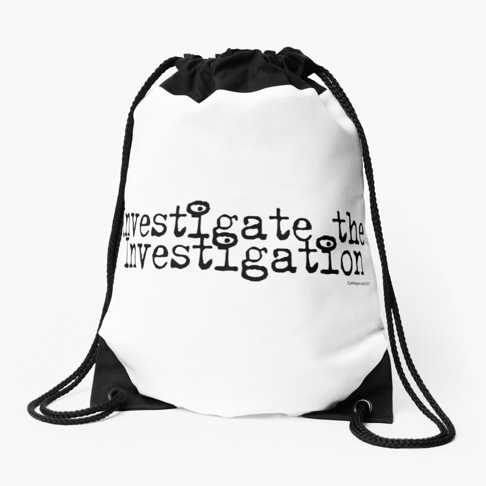 Investigate the Investigation Drawstring Bag