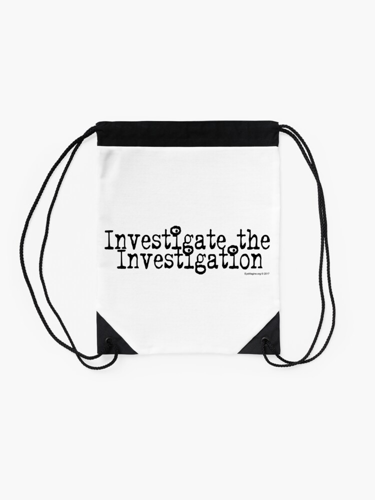 Alternate view of Investigate the Investigation Drawstring Bag
