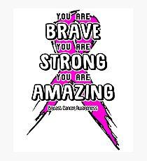 Breast Cancer Awareness Ribbon Photographic Print