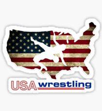 USA Wrestling Vintage Sticker