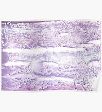Pale purple colored wash drawing paper Poster