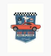 Ford Mustang - King Of Speed Kunstdruck