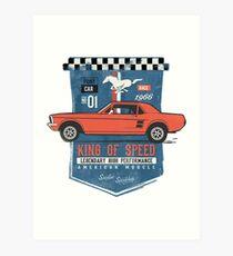 Ford Mustang - King Of Speed Kunstdruck