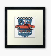 Ford Mustang - King Of Speed Gerahmtes Wandbild