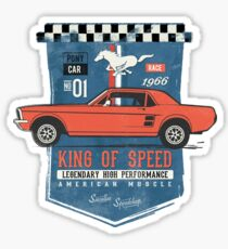 Ford Mustang - King Of Speed Sticker