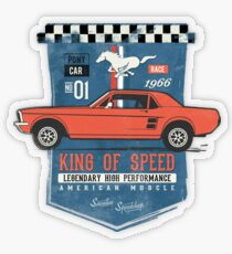 Ford Mustang - King Of Speed Transparenter Sticker