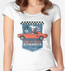 Ford Mustang - King Of Speed Tailliertes Rundhals-Shirt