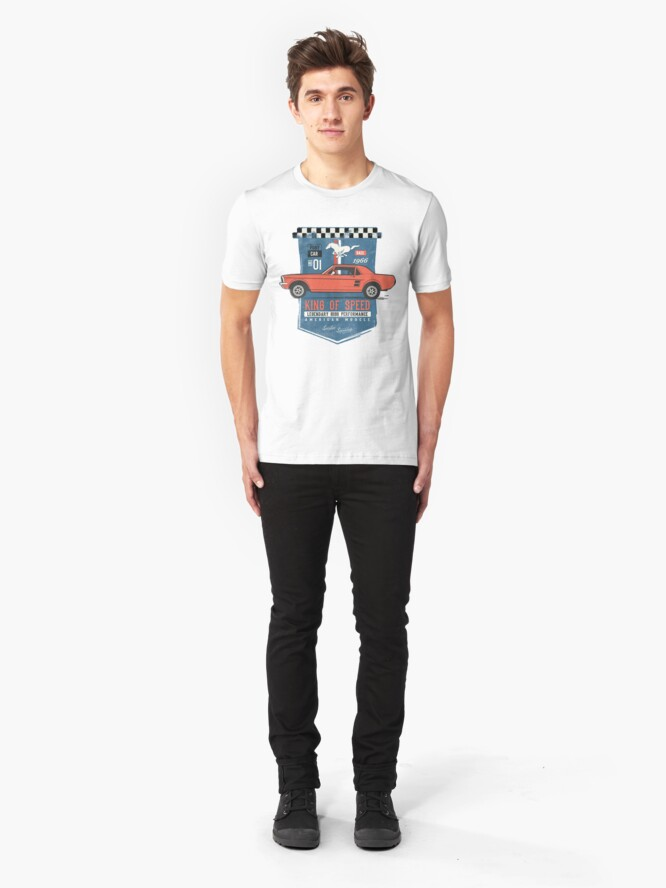 Alternative Ansicht von Ford Mustang - King Of Speed Slim Fit T-Shirt