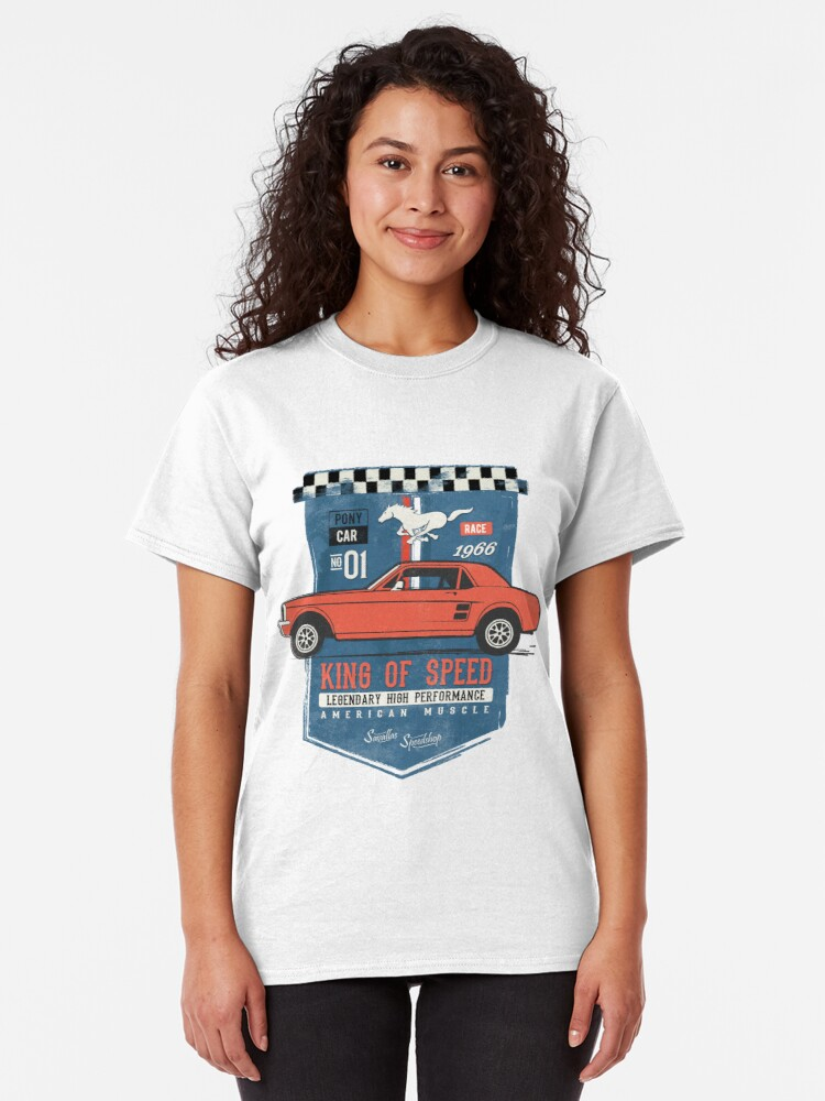 Alternative Ansicht von Ford Mustang - King Of Speed Classic T-Shirt