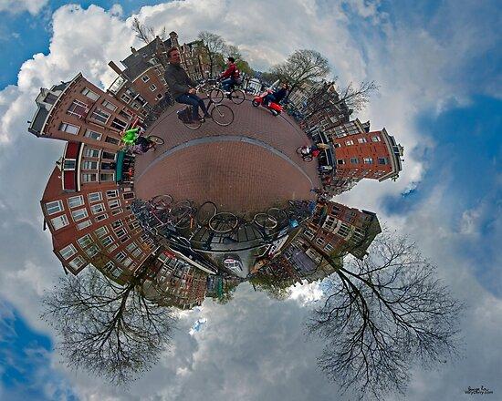Bridge over Prinsengracht (at Prinsenstraat), Amsterdam by George Row