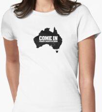 F@#k off, bogans. Women's Fitted T-Shirt