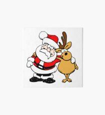 Santa and reindeer Art Board