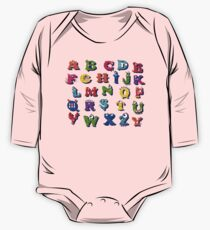 Halloween funny alphabet for children One Piece - Long Sleeve