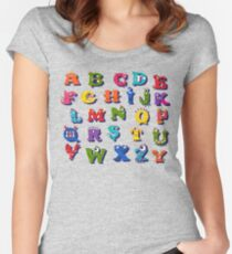 Halloween funny alphabet for children Women's Fitted Scoop T-Shirt