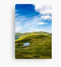 little pond on top of mountain ridge Canvas Print