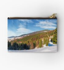 gorgeous panorama of winter countryside  Studio Pouch